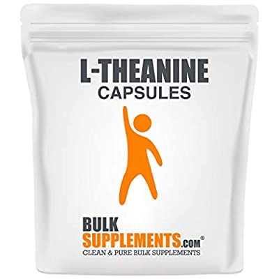 BulkSupplements L-Theanine Capsules - 500mg (300 Gelatin Capsules)