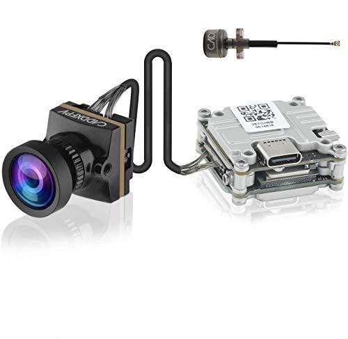 Caddx Nebula Nano FPV Camera Vista Kit FPV Vtx Combo 720P / 60FPS con 1/3 CMOS Lente de 2.1 mm Mini cámara de 150 Grados 4 km Alcance máximo Sistema Digital Aio para dji FPV Goggle RC Drones Negro