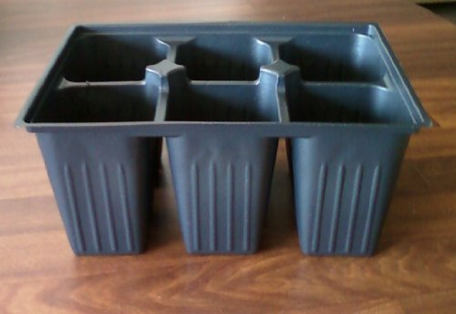 Seed Starter Trays 90 DEEP Extra Large Cells Total (15 Trays of 6 Cells Each) + 16 Labels