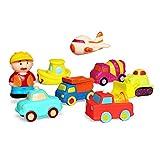 *JUNSHEN Joguines per a vehicles de bany (8 *PCS),Joguines flotants de bany Suau per a bebès Banyera Aprenentatge Bany Cotxe Joguines i Joguines per a Camions de banyera per a nens petits