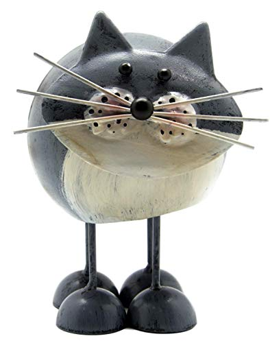 Fountasia Fun Bobbin' Metal Cat Ornaments (Grey)