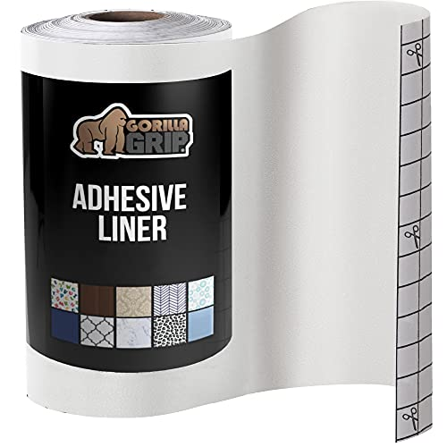 Gorilla Grip Peel and Stick AdhesiveRemovableEasy Install Liner Books, Drawers, Shelves, Craft, Vinyl Kitchen Décor Paper Contact Liners Cover Book, Drawer, Shelf, 11.8 in x 10 FT Roll, Clear Gloss