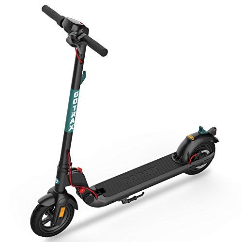 GOTRAX Commuting Electric Scooter - 8.5' Air Filled Tires - 15.5MPH & 15 Mile Range Folding E Scooter for Adults Commuters