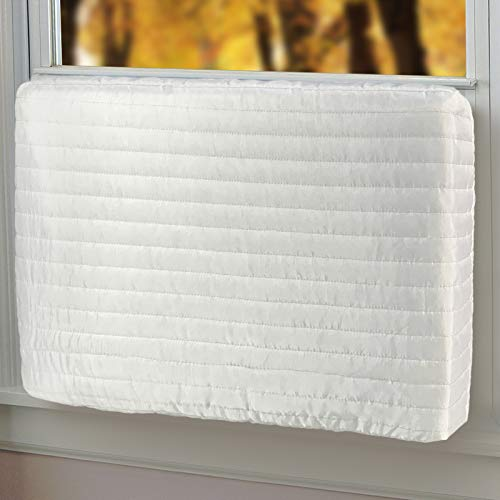 """Qualward Indoor Air Conditioner Cover Window AC Unit Covers for Inside (28"""" W x 20"""" H x 3.5"""" D)"""