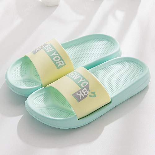 Zapatillas Casa Chanclas Sandalias Zapatilla Ropa De Mujer Casa Antideslizante Baño Baño Pareja Zapatillas Playa Sandalias Al Aire Libre Hombres Zapatos-Light_Green_44-45