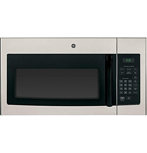 "GE JNM3161MFSA 30"" 1.6 cu. ft. Capacity Over-The-Range, 1000 Watt Microwave Oven in Silver"