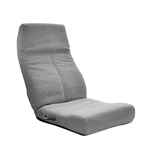 Faules Sofa Beanbag Tatami Bett Computer Klappbarer Rückenlehne Lehnstuhl Fenster Und Vom Boden Bis   Verstellbarer Stuhl Sechster Gang Verstellbarer Boden mwsoz (Color : Gray)