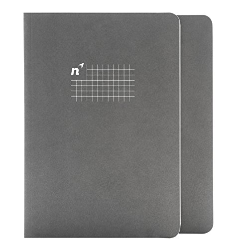 Northbooks A5 Grid Page Notebook Journal | 5.8� x 8.2� Graph Paper Squared Notebooks | Soft Cover Eco-Friendly Premium Recycled Cream Color Paper 144-Pages | Made in USA | 2-Pack