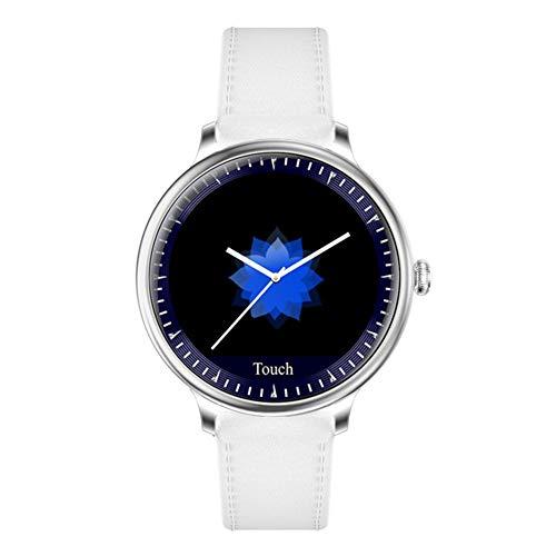 LXZ Ciclo De La Mujer con El Ritmo Cardíaco De Oxígeno En Sangre Tensiómetro Chica Reloj Inteligente De Pantalla Redonda Señoras del Reloj Inteligente Reloj Inteligente,Plata