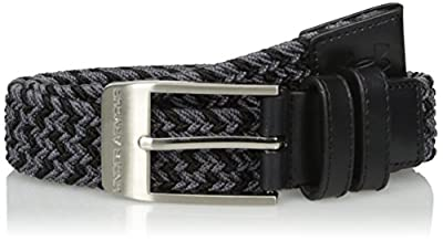Under Armour Boys' Braided Golf Belt, Black (001)/Graphite, One Size Fits All