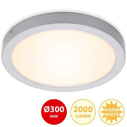 Briloner Leuchten LED Aufbauleuchte, Deckenlampe GU10, Reflektor schwenkbar, 400 Lumen, 3.000 Kelvin, Schwarz, Ø 8cm