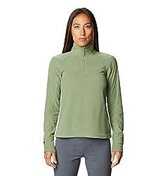 Mountain Hardwear Women's Microchill 2.0 Zip T   Lightweight, Moisture-Wicking Fleece Layer for Outdoor Wear