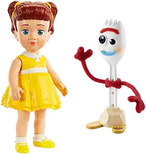 Disney and Pixar Toy Story 4 Karen Beverly & Forky Figures Movie-Inspired Character Dolls, Kids Gift for Ages 3 Years Old & Up