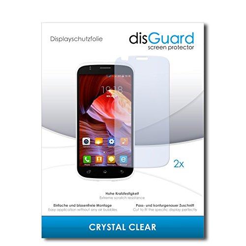 disGuard® Bildschirmschutzfolie [Crystal Clear] kompatibel mit Slok C2 [2 Stück] Kristallklar, Transparent, Unsichtbar, Extrem Kratzfest, Anti-Fingerabdruck - Panzerglas Folie, Schutzfolie