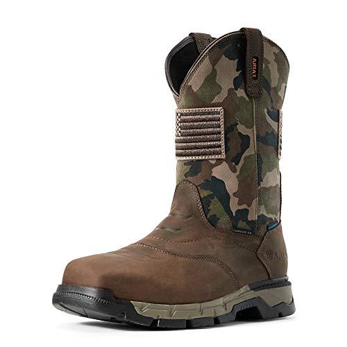 ARIAT Rebar Flex Western Patriot H2O Composite Toe Brown/Camo 10