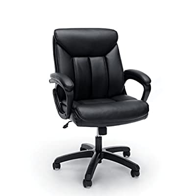 Essentials Leather Executive Computer/Office Chair with Arms from
