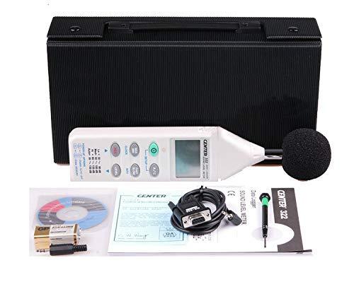 CENTER328 Tragbarer Geräuschpegelmesser mit Datenlogger 30 bis 130 dB