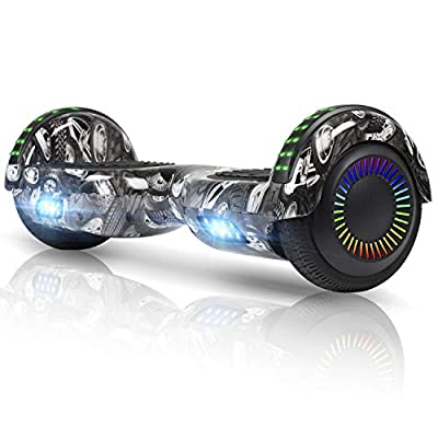 "FLYING-ANT Hoverboard UL 2272 Certified 6.5"" Two-Wheel Self Balancing Electric Scooter with LED Light Flash Lights Wheels Black (Free Carry Bag)"