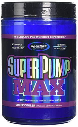 Gaspari Nutrition SuperPump MAX 640 g Grape Pre-Workout Drink Powder