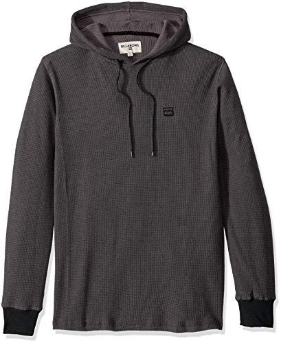 Billabong Men#039s Keystone Pullover Thermal Hoodie Black Large