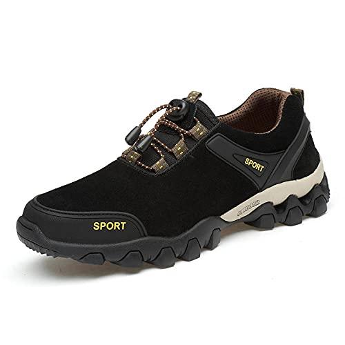 Aerlan Schnürschuhe für Männer und Frauen,Zapatos de Hombre de montañismo Casual al Aire Libre, Calzado Deportivo Zapatos de Escalada-Black_40,Calzado Deportivo cómodo