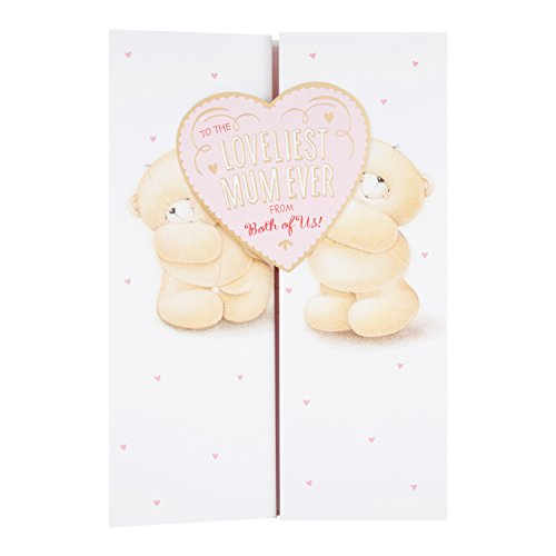"""Hallmark 25487450 Forever Friends Mother's Day Card""""Loveliest Mum from Both"""" – Large"""