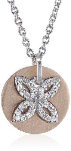 ESPRIT Jewels Damen-Halskette mit Anhänger Brillanz Star 925 Sterling Silber ESNL92340C420