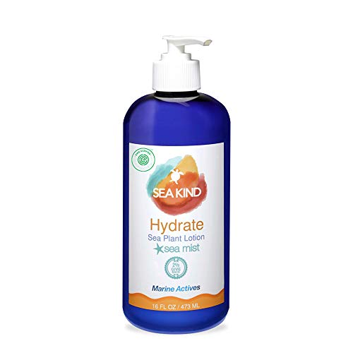 All Natural Hydrate Hand and Body Lotion for Women and Men, Lavender Essential Oil Scent 16 Fl Oz, Non Comedogenic, Vegan Moisturizer for Dry and Sensitive Skin, No Parabens, - Sea Kind