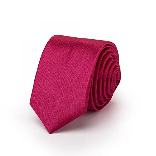 Rusty Bob - Attachez mince 3cm-5cm / étroit pour les hommes [pour les enfants/garçon] (collège, pas rayé) polyester brille comme de la soie - Pink