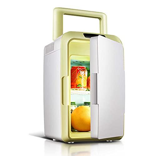 JUNKUN Mini refrigerador 12L pequeño Mini refrigerador refrigerador de Coche Mini refrigerador de Viaje refrigeradores pequeños para dormitorios