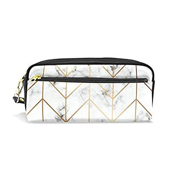 White Marble Texture Spider Web School Pen Case Kids Pencil Holders Large Capacity Pouch Makeup Cosmetic Boxes Office Travel Bag