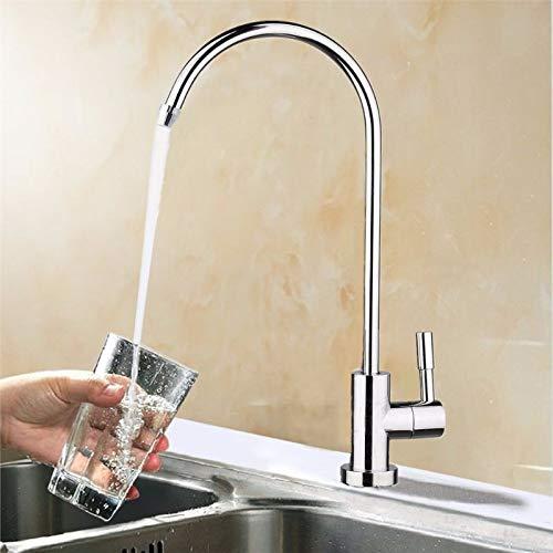 ZHQHYQHHX 1/4 pulgada de agua potable filtro grifo inversa sistema de ósmosis grifo del fregadero