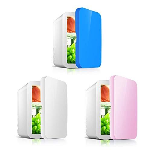 Minifrigorífico con refrigerador y calentador, nevera portátil de gran capacidad de 8 litros, congelador de vehículo ultrasilencioso para coches, casas, oficinas y dormitorios