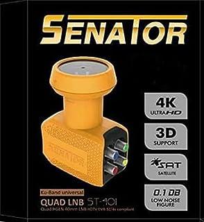 Senator ST-401 Ku-Band Universal 4 LNB Port - Yellow