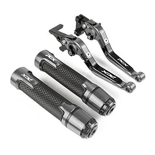 ZCLY PCX125 PCX150 Todo El Año Palanca De Embrague De Freno Ajustable para Motocicleta 7/8'22MM Empuñaduras De Manillar para PCX 125 PCX 150 Freno (Color : 4)