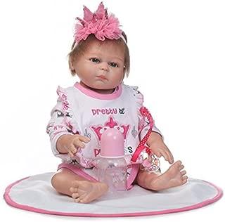 Nkol Reborn Dolls Lifelike Newborn Realistic Baby Doll (Silicone Vinyl Full Body, Waterproof), 20inch 50cm Weighted Baby Girl or Boy Anatomically Correct Toys (Pink Girl Doll)