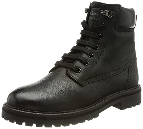 Pepe Jeans Nick Bootie 73, Fashion Boot para niño, (999black), 35 EU
