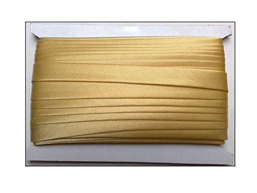 Borte-mit-Stil 5 m Satin Schrägband 0,75€/m doppelt gefalzt Kantenband Tracht 15mm breit Farbe: Gold