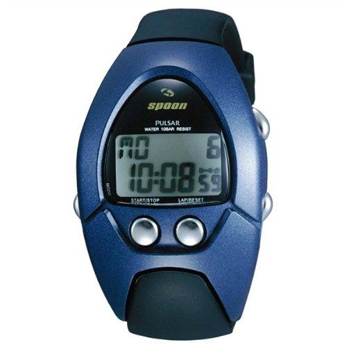Spoon by Pulsar Reloj de pulsera con alarma LCD cronógrafo