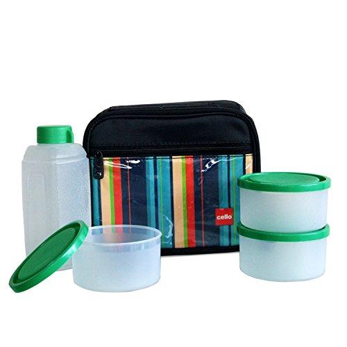 Cello Go 4 Eat Plastic Container Set, 4-Pieces, Green