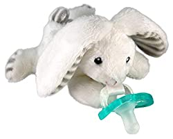 Bunny pacifier holder for baby Easter basket
