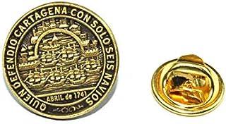 Gemelolandia | Pin de Traje Medalla de Blas de Lezo Homenaje Modelo Reverso | Pines Originales Para Regalar | Para las Cam...