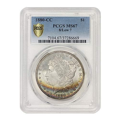 1880 CC 8/Low 7 American Silver Morgan Dollar MS-67 Illinois Set by CoinFolio $1 MS67 PCGS