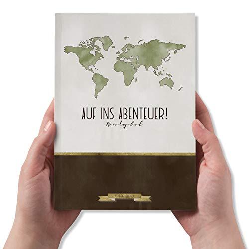 Reisetagebuch zum Ausfüllen, Einkleben und Ankreuzen, Reiseorganizer, DIN A5, 60 Seiten - Kollektion: Reiseliebe