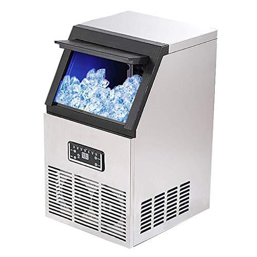 JINHH Gewerbe Eismaschine, 50kg Eismaschine Industrie Eismaschine 10 Minuten Schnelle Eisspeicher-HD-Display Ice Make One-Button Reinigung