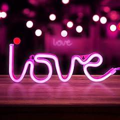Idea Regalo - X-go Neon Light Nuvola LED Neon Segni Nube Neon Luci Blu Neon Luce Segni per Camera Da Letto Pareti Neon Luci Notte per Bambini Batteria/USB Neon Luce LED Nube Neon Light up Segni (Pink Love)