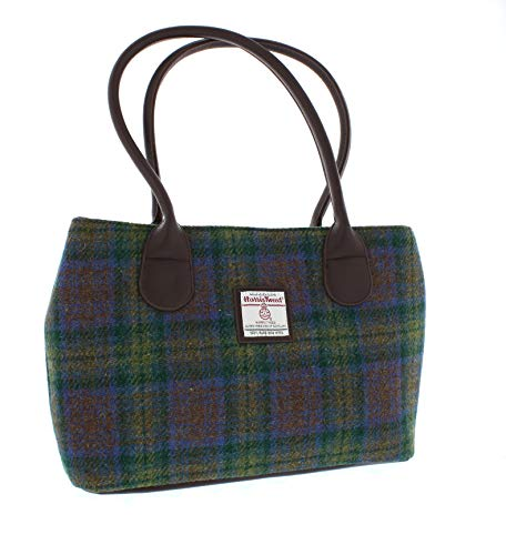 Glen Appin Harris Tweed Classic Handbag - LB1003 - Cassley (Colour 94 Skye Tartan)