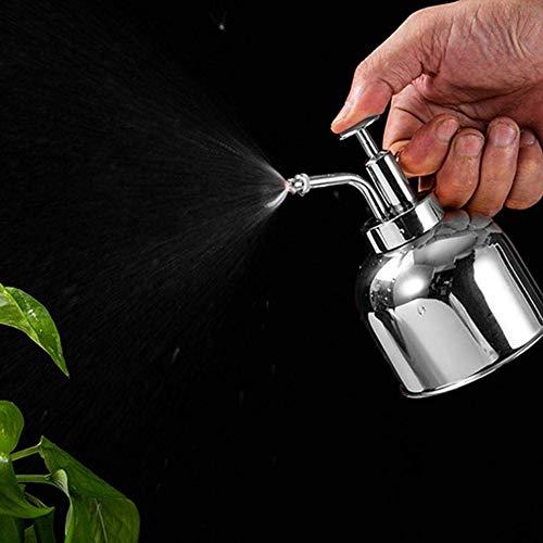 MLOZS Botella de agua de acero inoxidable para plantas suculentas y rociadoras, herramienta de jardín, riego para el hogar, jardín y espolvorear boca larga (color dorado)