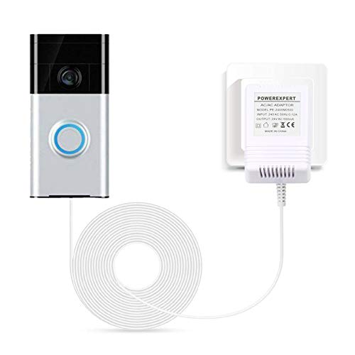 24V 500MA Transformer, AC Power Supply Compatible with All Versions of Ring Doorbell and Nest Learning Thermostat Ecobee, Honeywell, C Wire Adapter with 8M (315') Long Cable