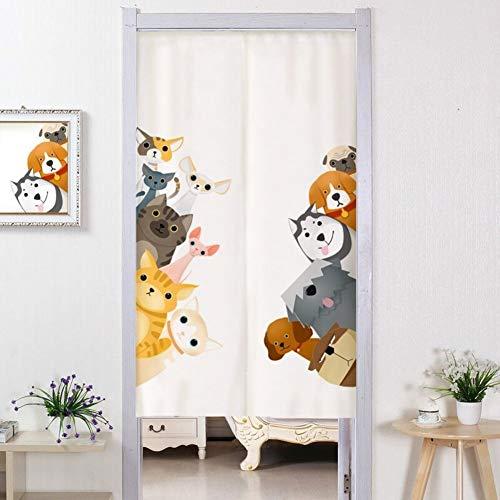 WJH Japanische Noren Tür Vorhang, Partition Tür Vorhang, Wandteppich Ukiyoe Bettwäsche Aus Baumwolle Dekoregal Restaurant Schlafzimmer Stoff Vorhang-a 100x200cm(39x79inch)